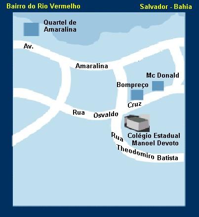 Mapa de Localização do Colégio